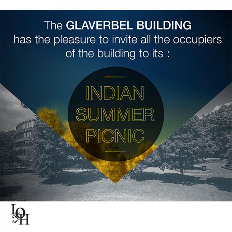 """création d'une carte postale pour """"Glaverbel building"""""""