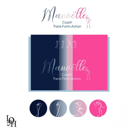 Recherche pour la création du logo de Manoëlle