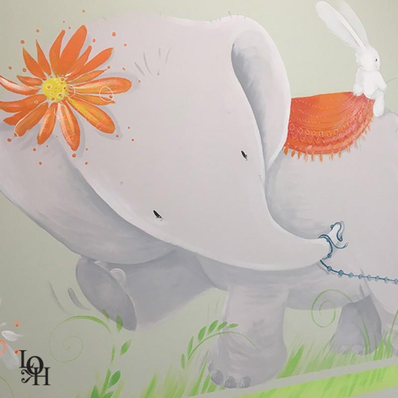Fresque salle de consultations-fleurs -1