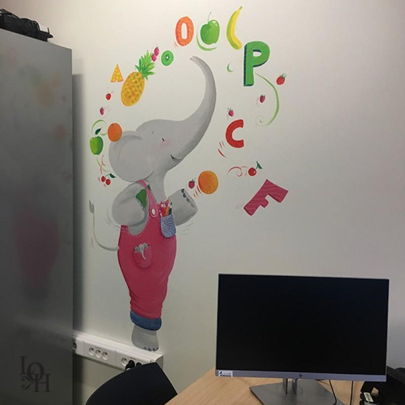 Fresque salle de logopédie-1