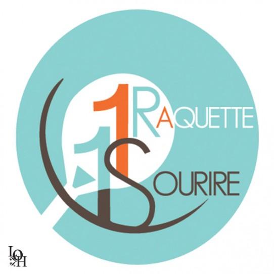 Logo pour la fondation 1 raquette 1 sourire