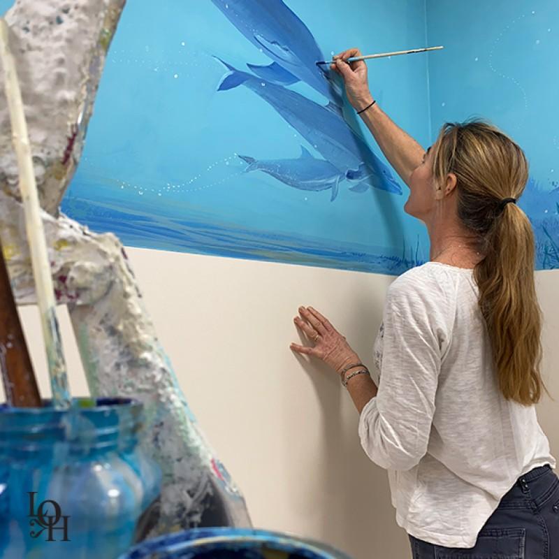 Laurence Henno peint fresque Huderf