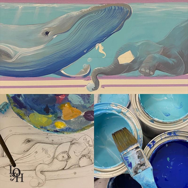 loH créations Fresque en cours