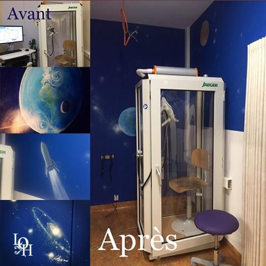 Fresque Huderf – salle test de souffle- pneumologie