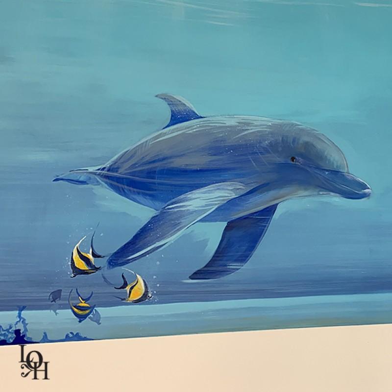 Dauphin détail de fresque
