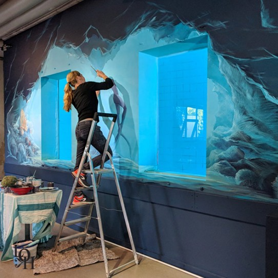 Fresque LoH – grotte sous-marine