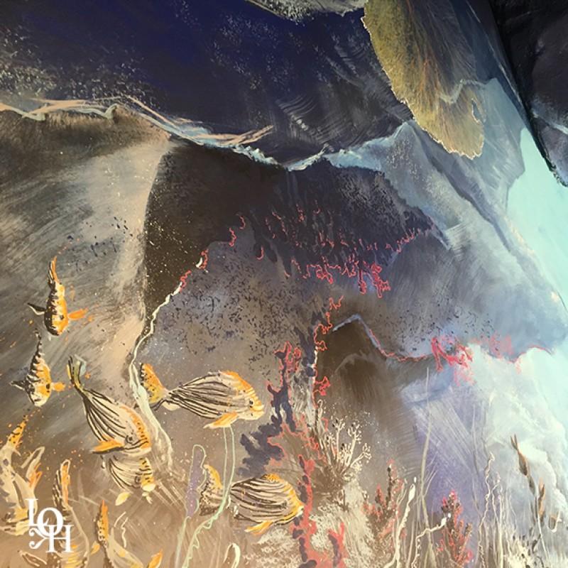 """Fresque murale """"Nemo 33 """" détail"""