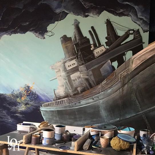 "Fresque murale ""Nemo 33 "" épave"