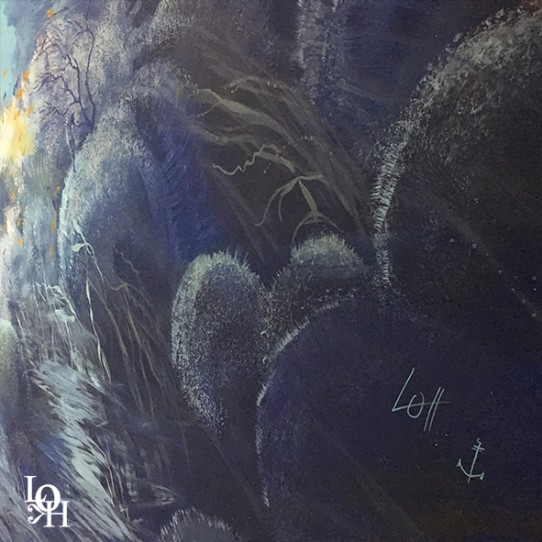 """Fresque murale """"Nemo 33 France""""signature encre -peintre reconnue par la Marine Belge"""
