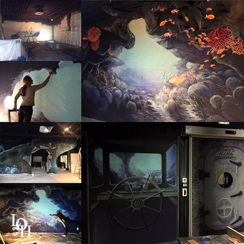 "Fresque murale ""Nemo 33 Genève"""