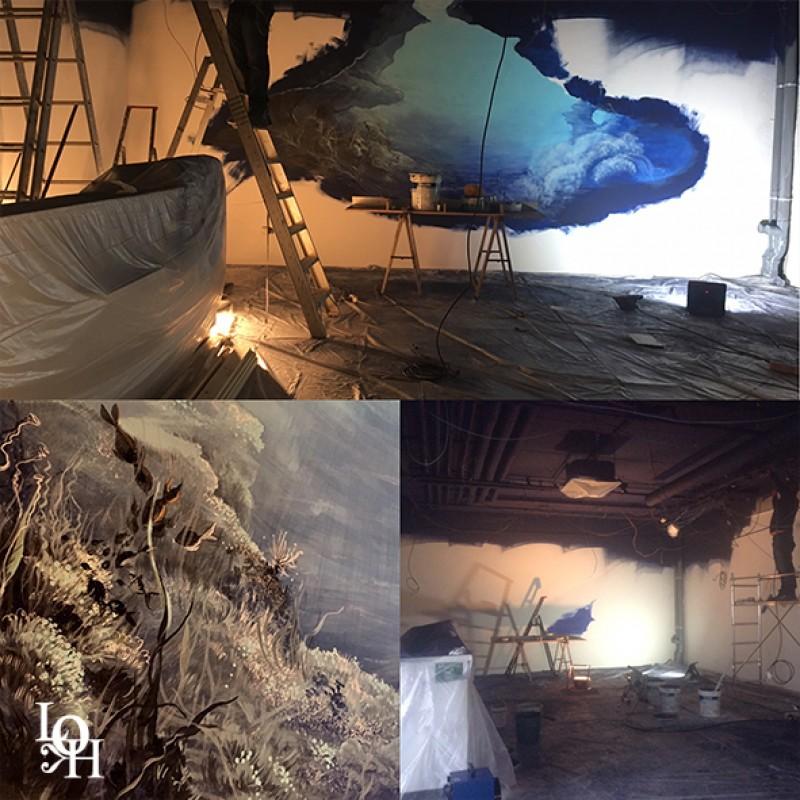 """Fresque murale """"Nemo 33"""" début du chantier"""