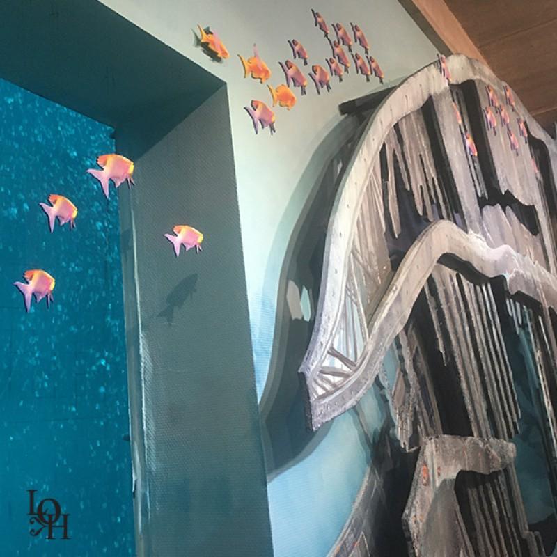 Fresque Nemo 33 détail intérieur