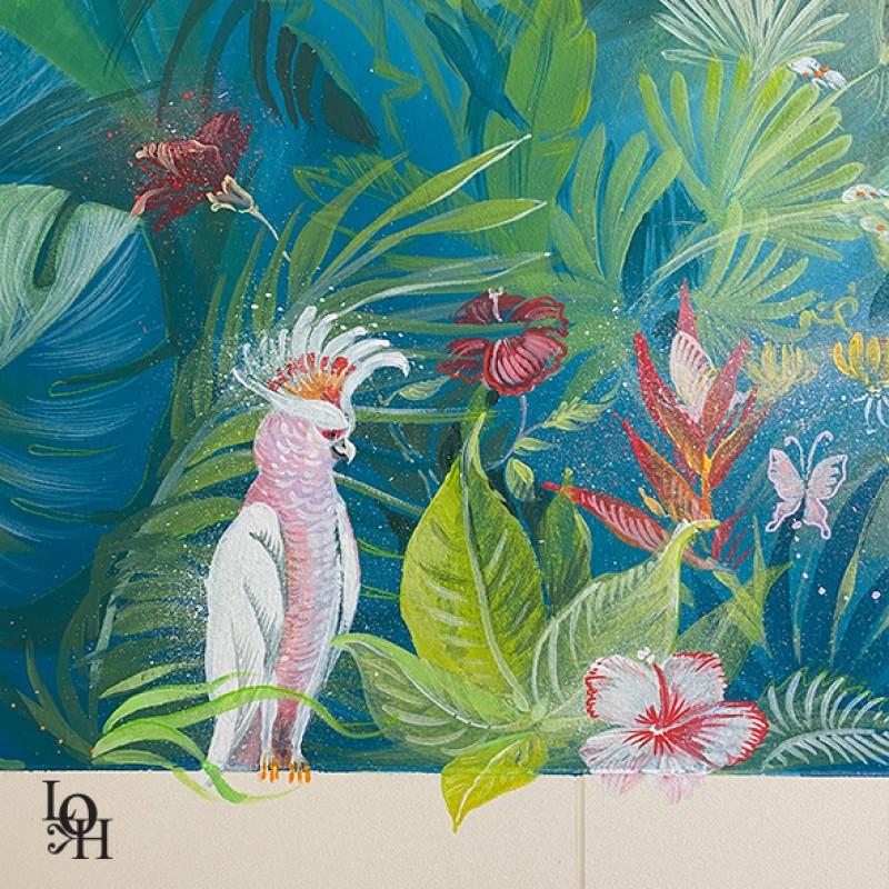 Fresque Tropicale -détail jungle- HUDREF