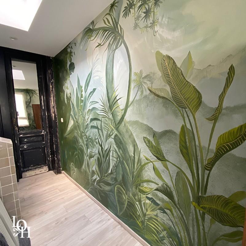 Fresque tropicale