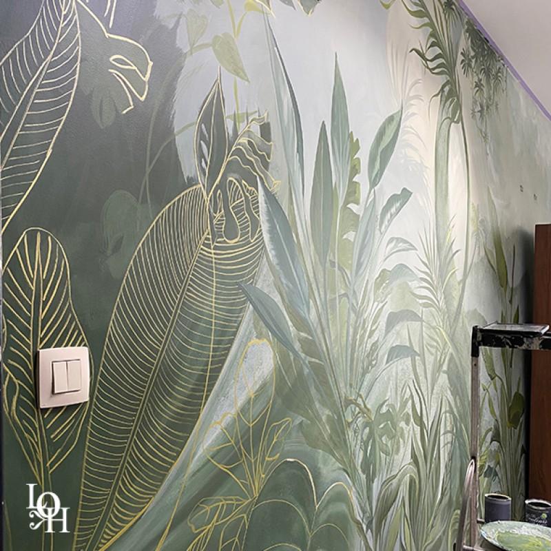 Fresque tropicale détail2