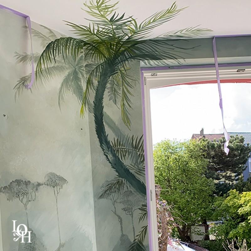 Fresque tropicale détail3